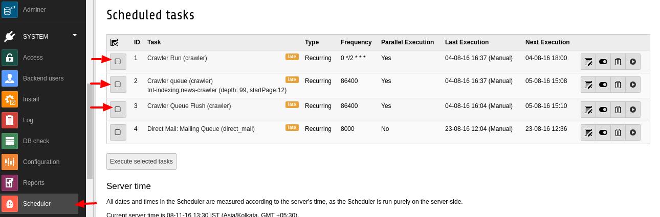 Typo3 scheduler